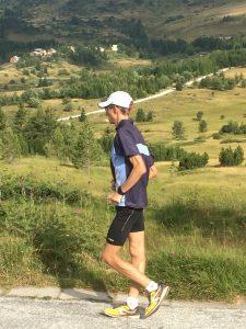 Carl Dohmann auf seinen abschließenden 40km am Tag vor der Abreise (3h40)